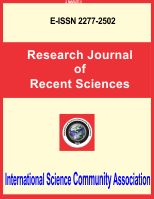 Research Journal of Recent Sciences